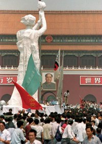 Goddess of Democracy Statue at Tiananmen Square Protest Beijing 1989