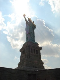 Statue of Liberty on Liberty Island New York